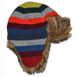 GAP Accessories - Baby Gap Crazy Stripe Faux Fur Lined Trapper Hat